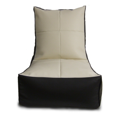 Bean Bag Module Chair Cream Top.