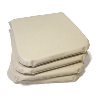 Seat pad faux leather cream