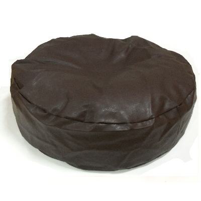 bean Bag Cat Bed Round Faux Leather